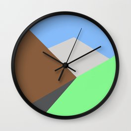 Road to the snow Wall Clock