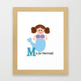 M is for Mermaid Framed Art Print