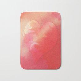 Heart pink smoothie Bath Mat