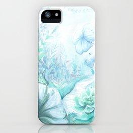 Blue Jungle iPhone Case
