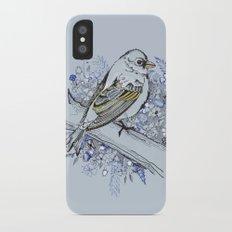 Blue bird iPhone X Slim Case