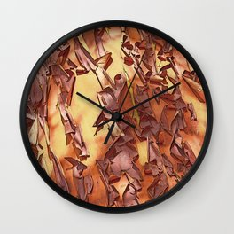 A STUDY OF MADRONA BARK Wall Clock