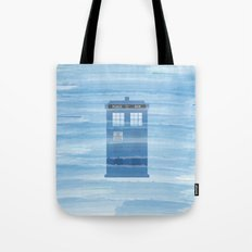 TARDIS Under the Sea - Doctor Who Digital Watercolor Tote Bag