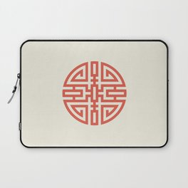 Cai / Wealth In Red And Chamois Laptop Sleeve