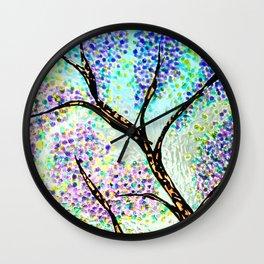 Lavender Branch Wall Clock
