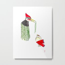 Woody and the Bird Metal Print