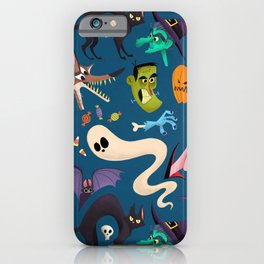 Halloween Pattern Background Wallpaper Ultra HD iPhone Case
