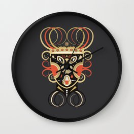 Ceremonial Tribal Mask Wall Clock