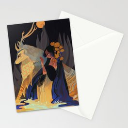 Blue gold drop Stationery Cards