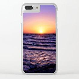 Pleasure Pier Sunrse Clear iPhone Case