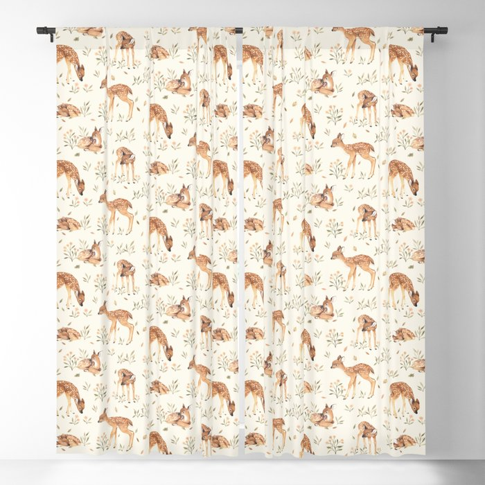 Wildflower Fawn Blackout Curtain