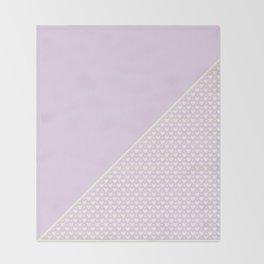 Heartless 2 - Lavender + White/ Yellow Throw Blanket