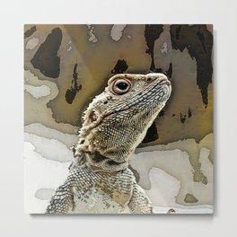 nosy lizard Metal Print