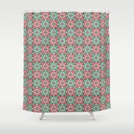 Christmas knitted jacquard pattern Shower Curtain