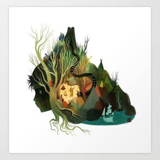 Neverland State of Mind Art Print