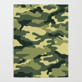 Military pattern, Army Background Poster