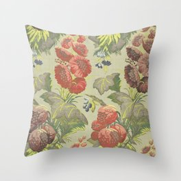 French or Italian silk floral Throw Pillow