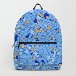 Bedtime Stories BLUE / Cartoon pencil pattern Backpack
