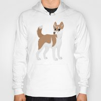 husky Hoodies featuring Red Husky by Sarah