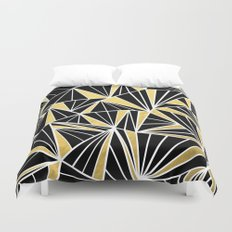 Ab Fan Zoom Gold Duvet Cover