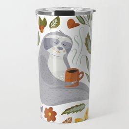 Sloth Pattern #1 Travel Mug