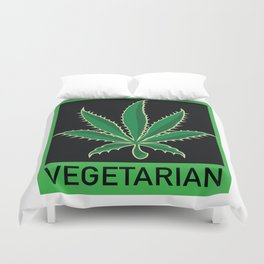 Vegetarian Marijuana Leaf Duvet Cover