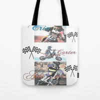 moto Tote Bags featuring Moto Kids by Connie Campbell