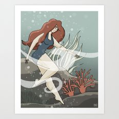 Bottom of the Sea Art Print