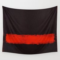 rothko Wall Tapestries featuring Black, Red and Black 1968 Mark Rothko by Rothko
