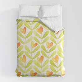 Corazones naranjas Comforters