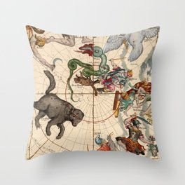 Constellation Chart 1693f Throw Pillow