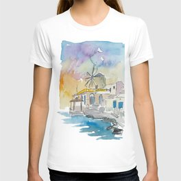 Santorini Therassia Lonely Island in Greece T-shirt
