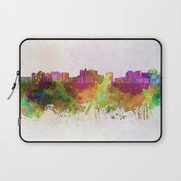 Sarasota skyline in watercolor background Laptop Sleeve