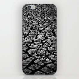 Cracked Monochrome iPhone Skin