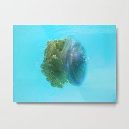 Crown Jellyfish Metal Print