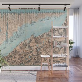 Chart of the World's Mountains and Rivers - Geographicus Wall Mural