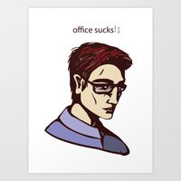 the office Art Prints featuring office by filatovaleria