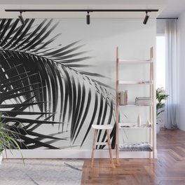 Palm Leaves Black & White Vibes #3 #tropical #decor #art #society6 Wall Mural