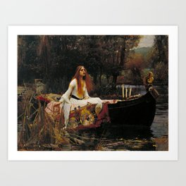 John William Waterhouse - The Lady of Shalott, 1888 Art Print