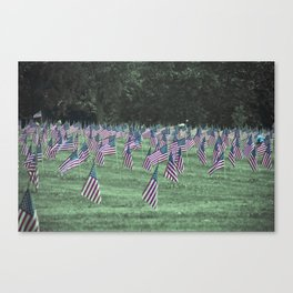 Allegheny Cemetery Memorial Day Canvas Print