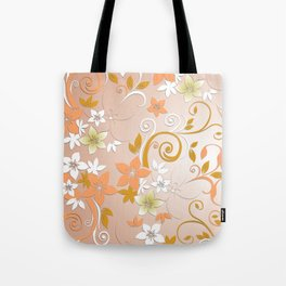Flowers wall paper 8 Tote Bag