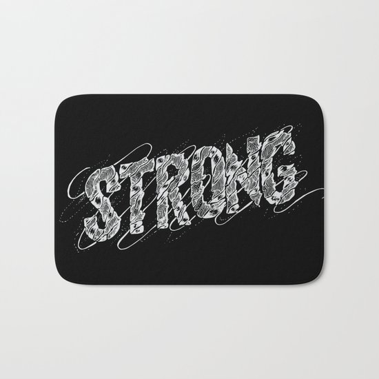 STRONG (White type) Bath Mat