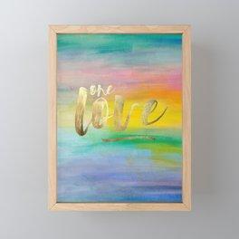 One Love, Ocean Sunrise 2 Framed Mini Art Print