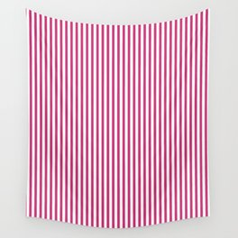 Pink Yarrow Stripes Wall Tapestry