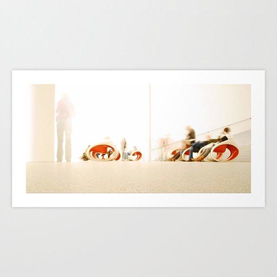 visitors Art Print