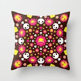 Monster Mandala #1 Throw Pillow