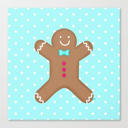 Yummy Gingerbread Man Cookie Canvas Print