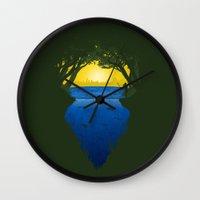 brasil Wall Clocks featuring Brasil by Yuri Lobo