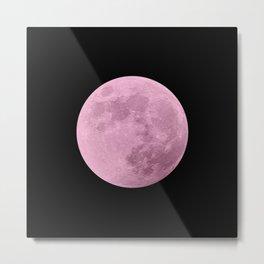 PINK MOON // BLACK SKY Metal Print
