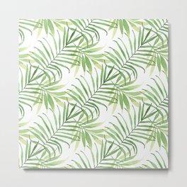 Tropical Branches Pattern 05 Metal Print